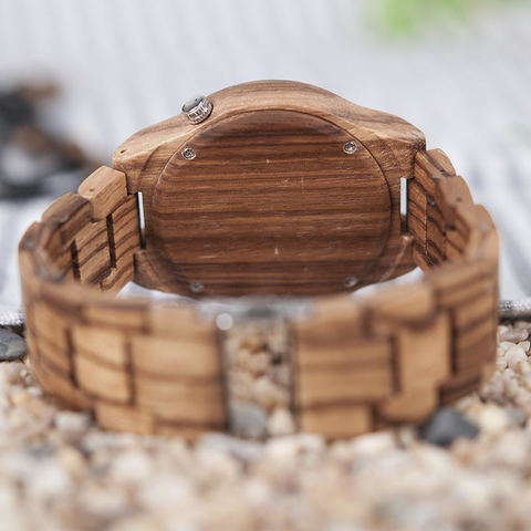 Image of Our Stripes- Wood Watch - Lucas Gadgets