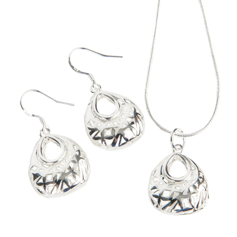 Image of Miran Puffed Sterling Silver Earrings - Lucas Gadgets