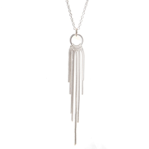 Olina Silver Tassel Necklace - Lucas Gadgets