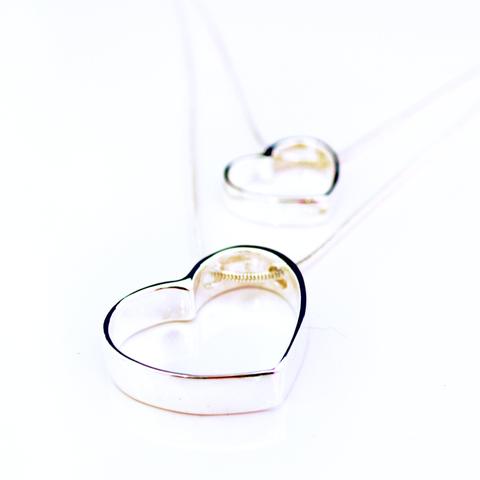 Linked Hearts Silver Double Necklace - Lucas Gadgets