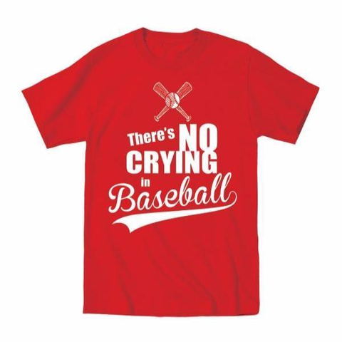 Image of No Crying In Baseball Toddler T-Shirt - Lucas Gadgets