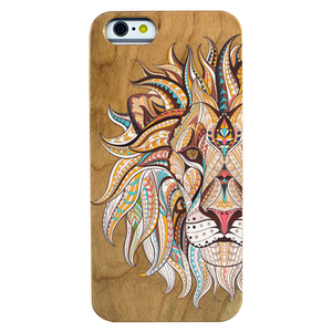 Lion Face Cherry Wood Phone Case - Lucas Gadgets