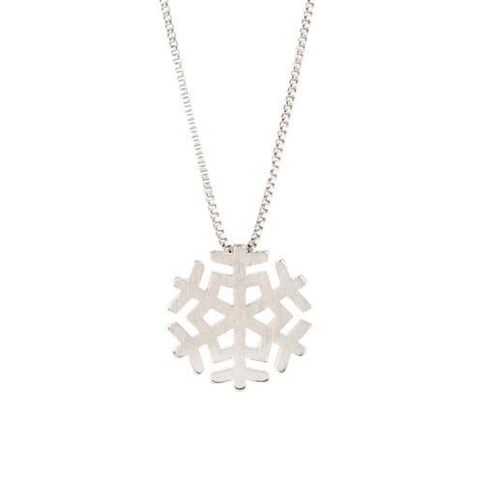 Image of Snowflake Sterling Silver Necklace