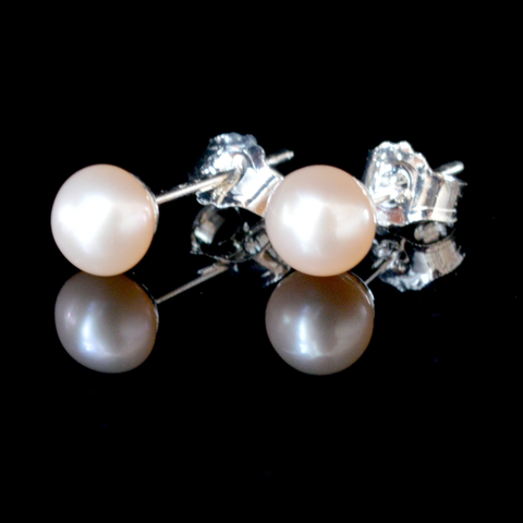 Image of June Petite Cultured Pearl Stud Earrings - Lucas Gadgets