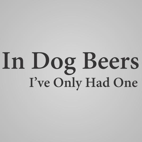 Image of In Dog Beers Men's T-Shirt - Lucas Gadgets