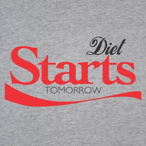 Image of Diet Starts Tomorrow Women's Jr Fit T-Shirt - Lucas Gadgets