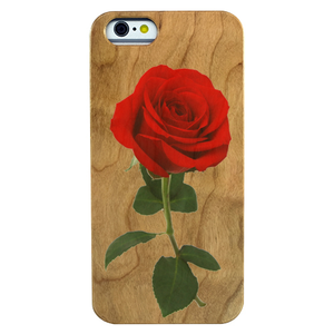 Rose Design Cherry Wood Phone Case - Lucas Gadgets