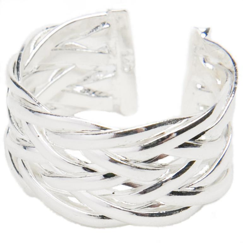 Image of Sterling Silver Basket Weave Ring