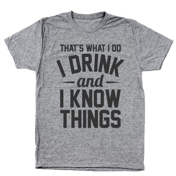 Drink And Know Things Men's Tri-Blend T-Shirt - Lucas Gadgets