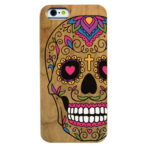 Image of Sugar Skull Boy Wooden Phone Case - Lucas Gadgets