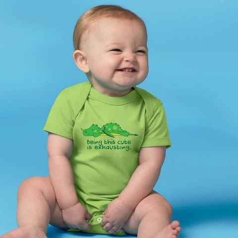 Exhausted Dragon Baby Onesie - Lucas Gadgets