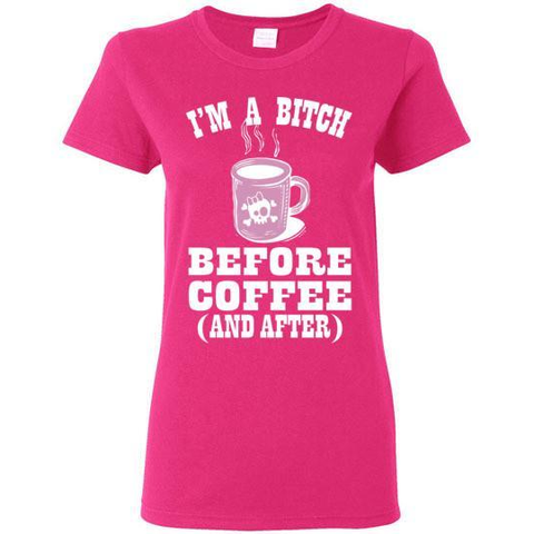 Image of I'm a B*tch Before Coffee T-Shirt - Lucas Gadgets