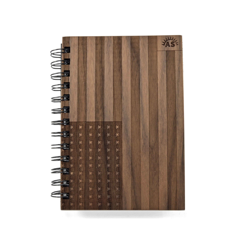 Image of Flag Wooden Notebook - Lucas Gadgets