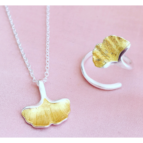 Image of Ginkgo Leaf Silver Necklace - Lucas Gadgets
