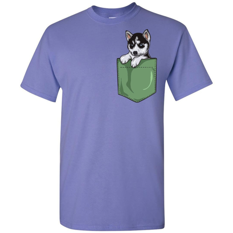 Image of Husky Puppy Pocket Tee - Lucas Gadgets