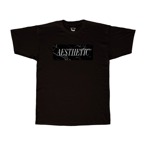 Image of Aesthetic T-shirt - Black Marble - Lucas Gadgets