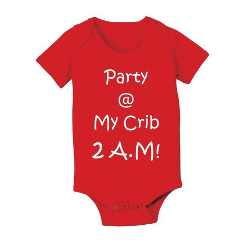 Image of Party At My Crib 2 A M Baby One Piece - Lucas Gadgets
