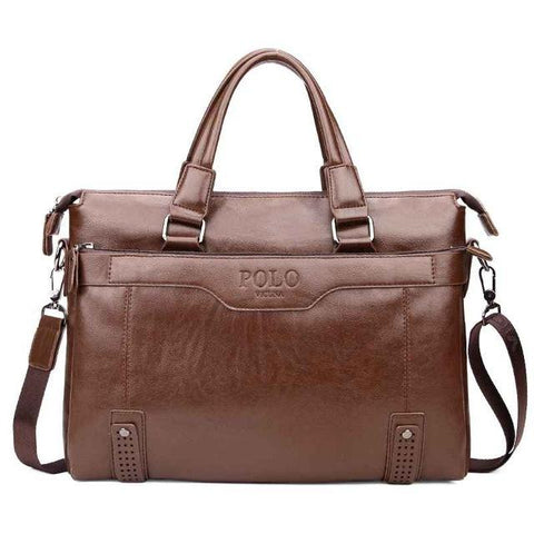 Image of Men's Vintage Leather Briefcase - Lucas Gadgets