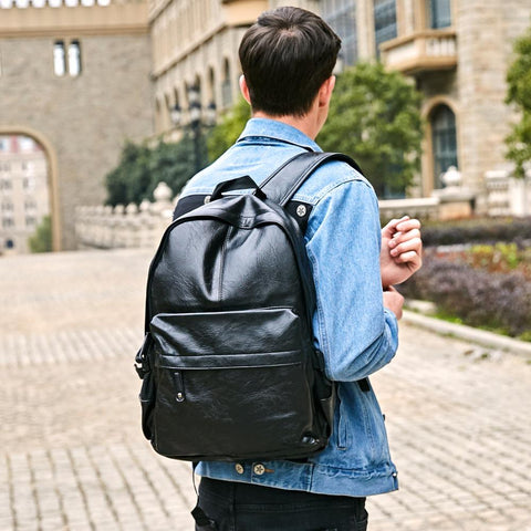 Image of Preppy Style Leather Bag - Lucas Gadgets