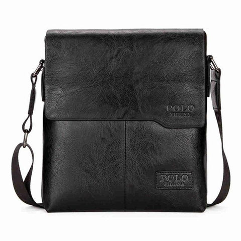 Image of Vintage Leather Messenger Bag - Lucas Gadgets