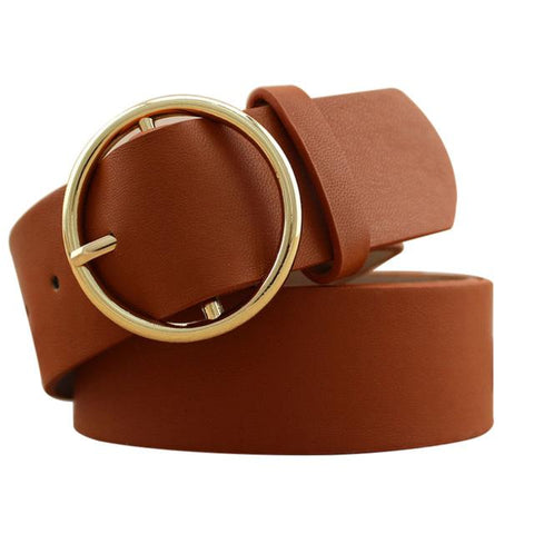 Image of Gold Buckle Fashion Belts For Girls - Lucas Gadgets
