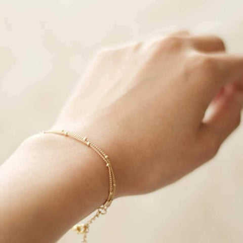Image of Chic Double-Layer Chain Bracelet - Lucas Gadgets