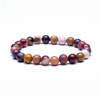 Image of Natural Stone Beads Tiger Eye Buddha Lava Bracelets - Lucas Gadgets