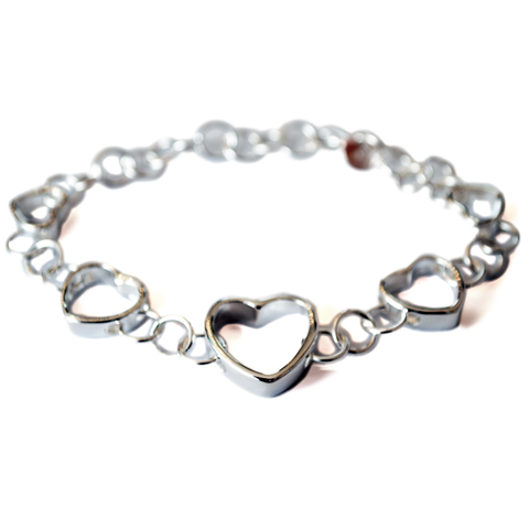 Image of Linked Hearts Silver Bracelet - Lucas Gadgets