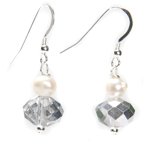 Kristin Pearl and Crystal Earrings - Lucas Gadgets