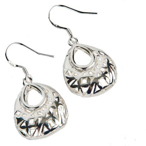 Miran Puffed Sterling Silver Earrings - Lucas Gadgets