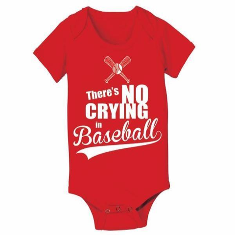 Image of No Crying In Baseball Baby One Piece - Lucas Gadgets