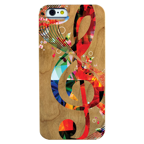 Musical Clef Wooden Phone Case - Lucas Gadgets