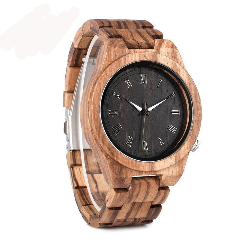 Our Stripes- Wood Watch - Lucas Gadgets