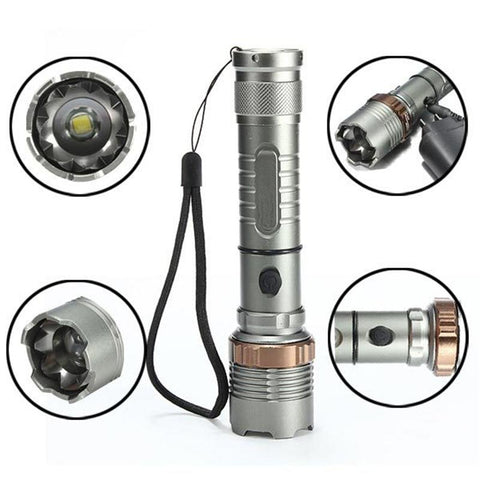 Tactical LED Waterproof Zoom Flashlight - Lucas Gadgets
