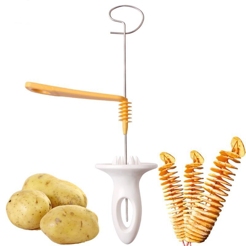 Stainless Steel Spiral Potato Slicer - Lucas Gadgets