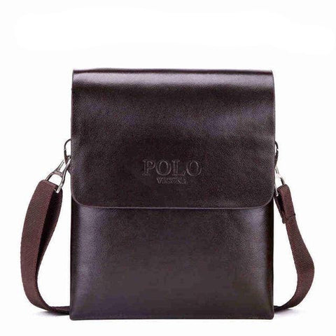 Image of Double Pocket Soft Leather Messenger Bag - Lucas Gadgets