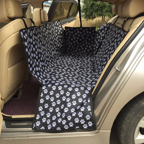 Image of Paw Pattern Waterproof Back Seat Car Cover Mat - Lucas Gadgets