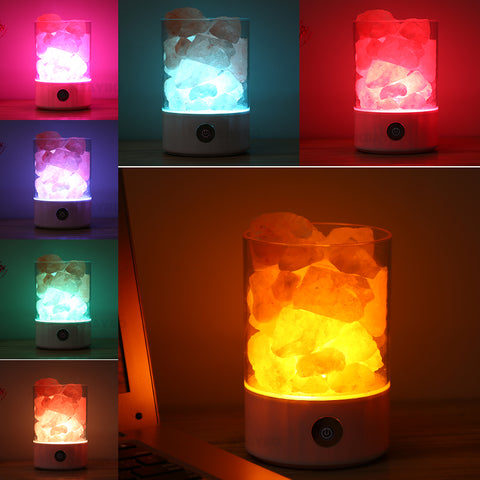 Image of Crystal Salt Night Lamp - Lucas Gadgets