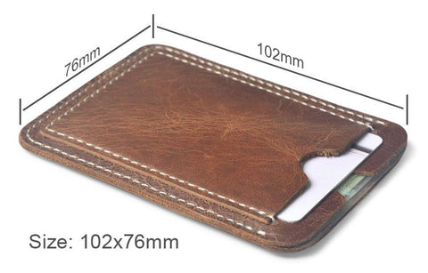 Soft Slim Leather Credit Card Holder - Lucas Gadgets
