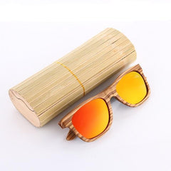 Bamboo Zebra Wood Polarized Sunglasses