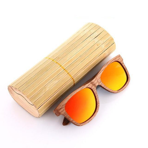 Bamboo Zebra Wood Polarized Sunglasses - Lucas Gadgets