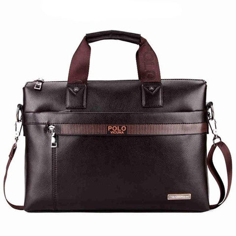 Image of Leather Laptop Briefcase - Lucas Gadgets
