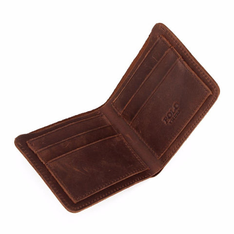 Image of Cool Vintage Leather Wallet - Lucas Gadgets