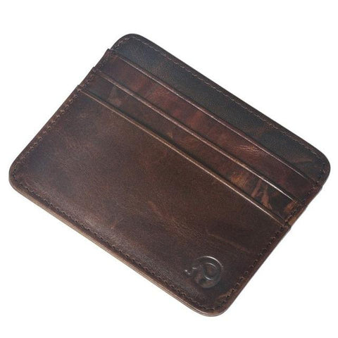 Retro Vintage Style Leather Credit Card Wallet - Lucas Gadgets