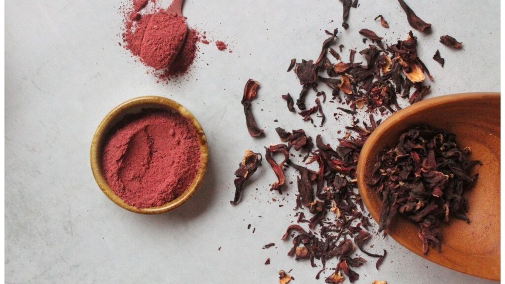 Dried Hibiscus Flowers and its Powdered form