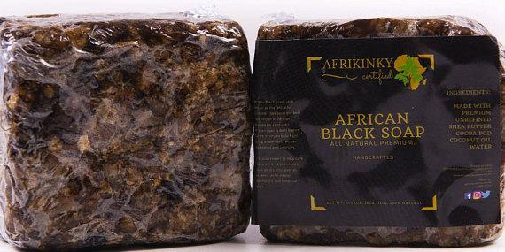 Large Afrikinky Black Soap, Buy 3 for only $19.99 (Value of $27) VIP deal