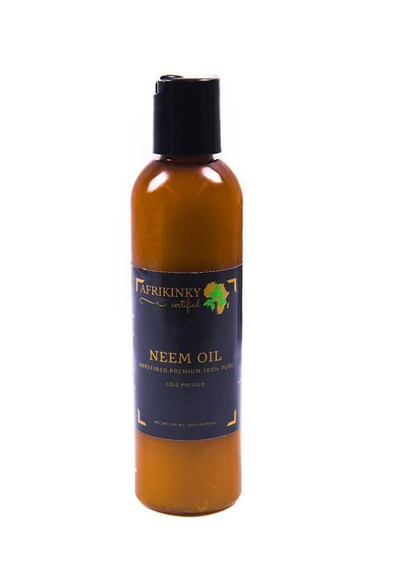 Unrefined Cold Pressed Premium 100% Pure Neem Oil - afrikinky