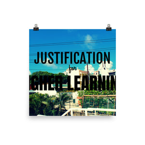Justification Poster