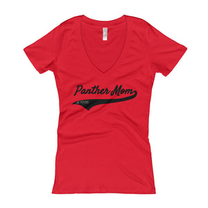 Panther Mom V-Neck T-shirt