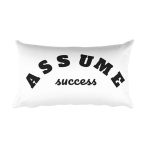 Assume Success Rectangular Pillow
